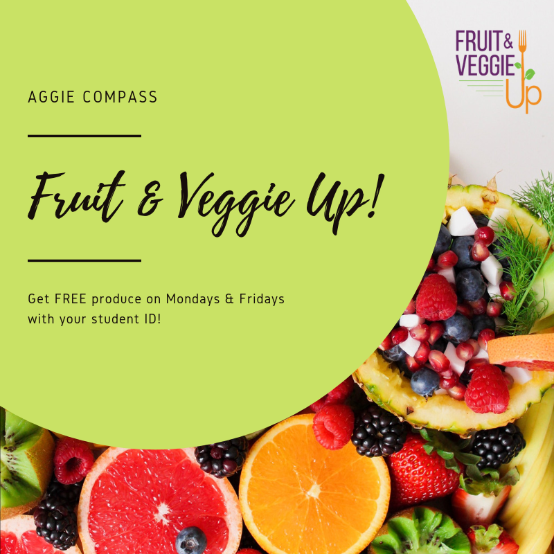 Aggie Compass Fruit & Veggie Up logo